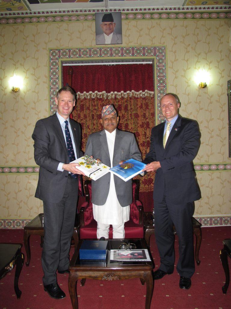President of Nepal Meeting