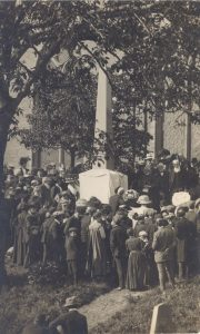 Unveilling of the Don Memorial. 1910. Post card print in the RBGE Library Archive