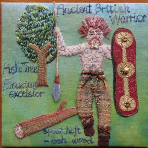 Ancient British Warrior, by Sandra Kendall (The Embroiderers' Guild North Lonsdale)