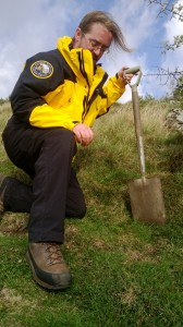 Holyrood Park Ranger planting maiden pink