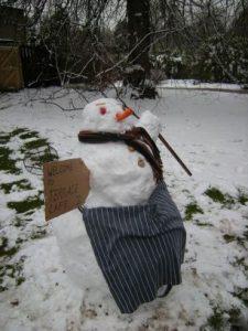 Terrace Cafe snowman