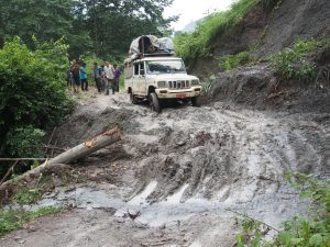 Jeep travel in Baglung District. Nepal