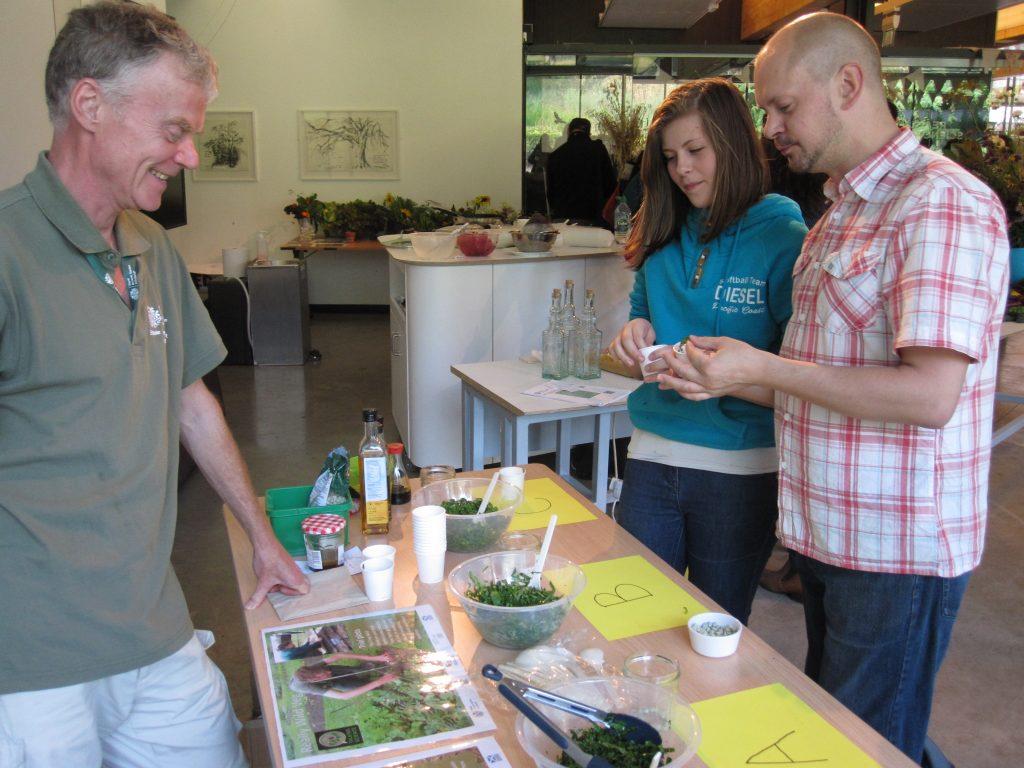 Malcolm running a public taste test at the Royal Botanic garden Edinburgh.