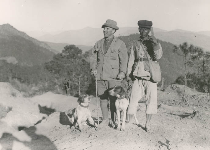 Forrest with chief collector Lao Chao, undated.