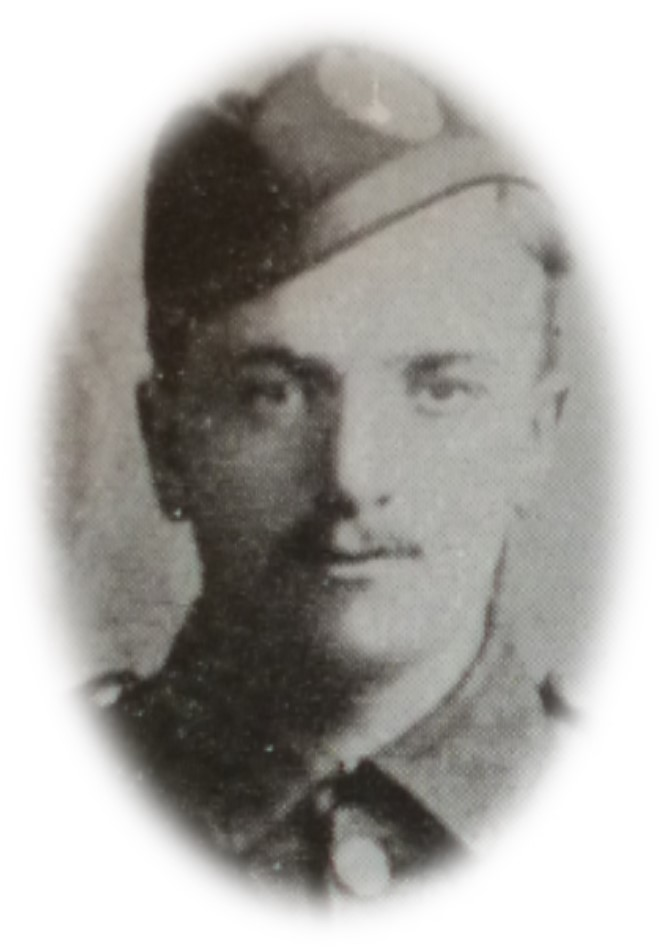 Private Alan Menzies as shown in Perth Academy's school magazine, with thanks to the Local and Family History Dept, A.K.Bell Library, Perth for permission to reproduce it.