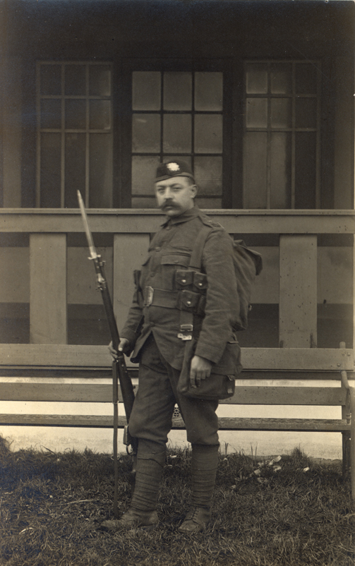 Walter H. Morland in his uniform.