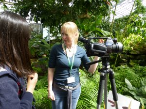 Marianne Farish from SRUC with the thermal imaging camera used to visualise the temperature of New Reekie.