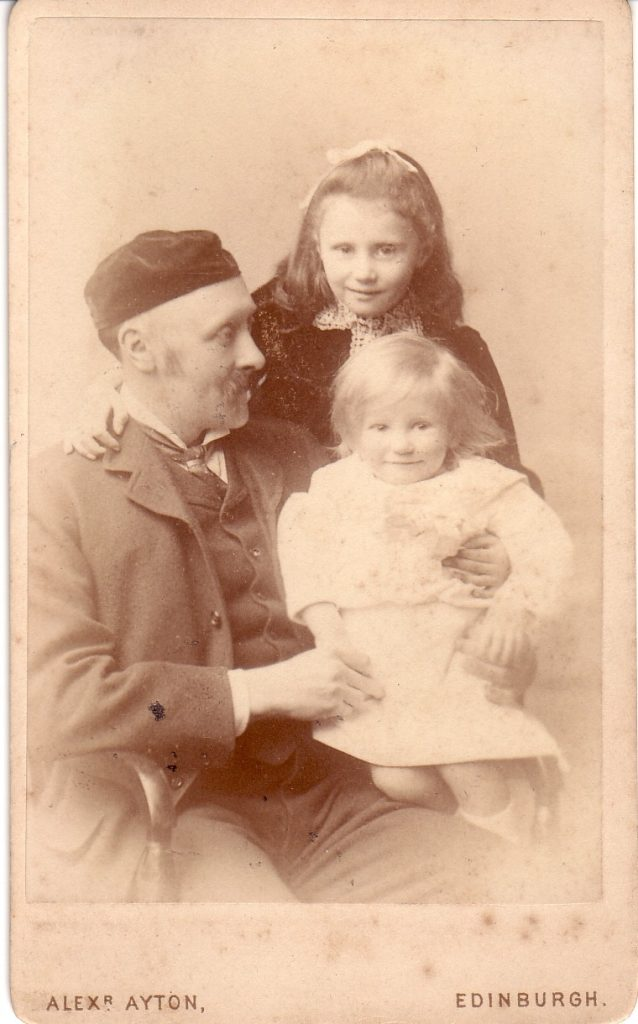 Regius Keeper Isaac Bayley Balfour with his daughter Senga, and 1 year old son Isaac, known as 'Bay'. Photo in possession of a member of Balfour's family.