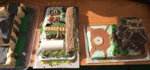 Some of RBGE's cakey contributions left to right: Botanic Cottage; Demonstration Garden; Inverleith House