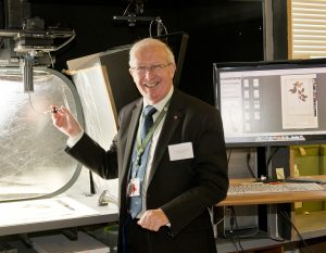 Professor Stuart Monro imaging the 300,000th specimen