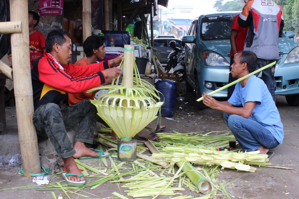 Lanterns made from banana leaves in Bogor