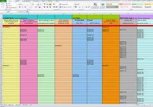 Condition survey spreadsheet