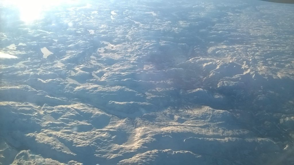 A land of snow and ice - Norway from the plane