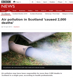 Air pollution Scotland