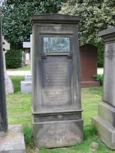 Robert Anstruther Goodsir's tombstone in the Dean Cemetery, Edinburgh