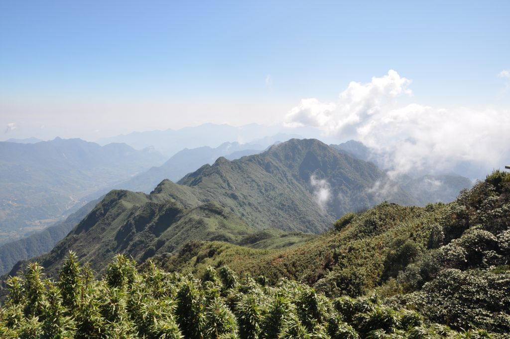 The view from the summit of Fansipan