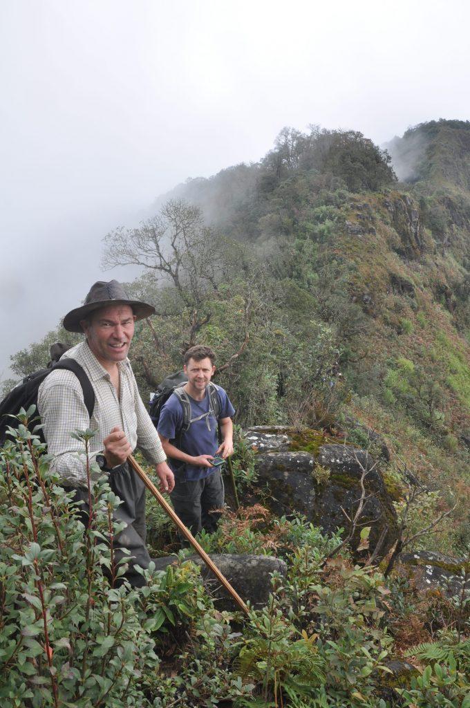 Richard and Andy take a break near the summit of Nhiu Co San