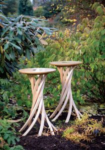 Cyclonic Side Tables by Alasdair Wallace photographed in the RBGE by Pavel Tamm