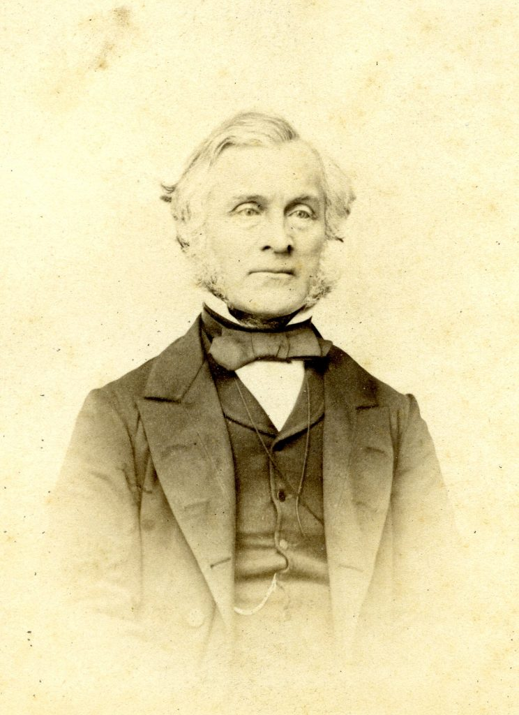 Photograph of William Brand taken in 1865. From the Botanical Society Club Album.