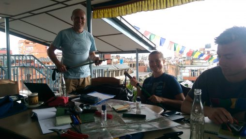 The final briefing for the expedition to Saipal Himal in western Nepal.