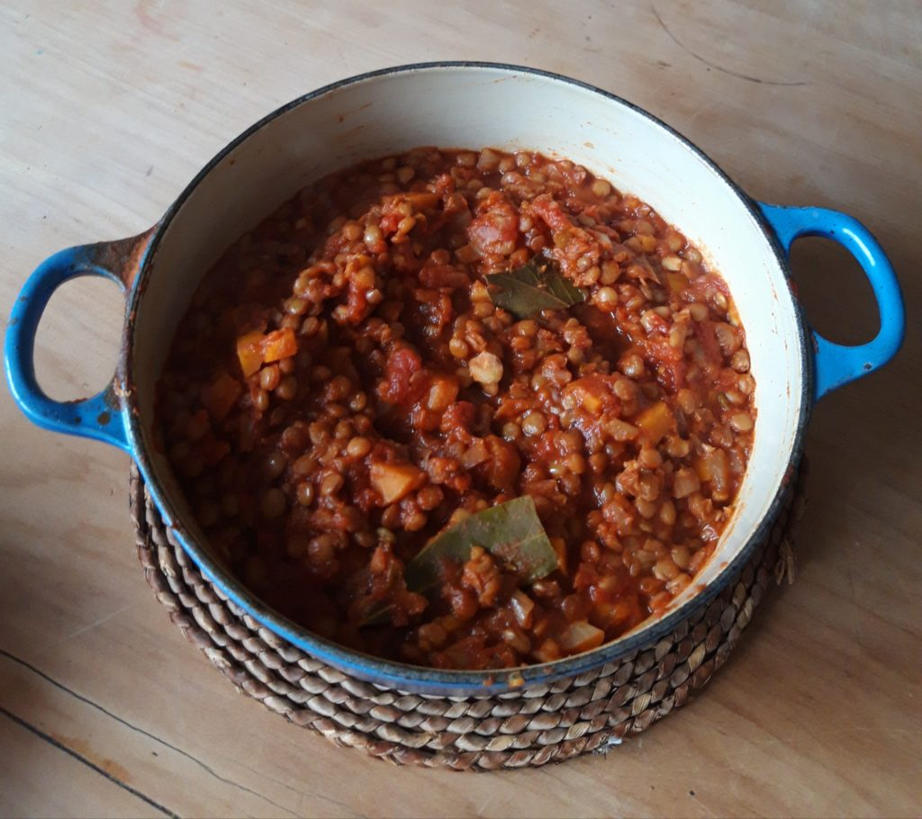 A bowl full of bolognaise sauce