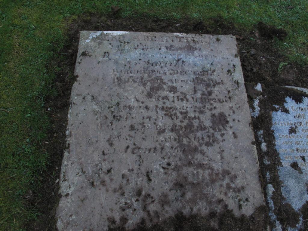 Auchenblae kirkyard, James and Ann Badenach gravestone