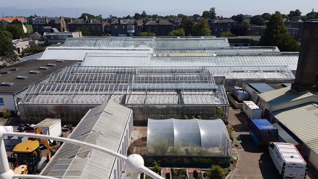 overview of RBGE glasshouses