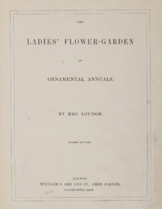 "Photograph of the title page of ""The ladies' flower-garden of ornamental annuals"", 2nd edition, 1849"
