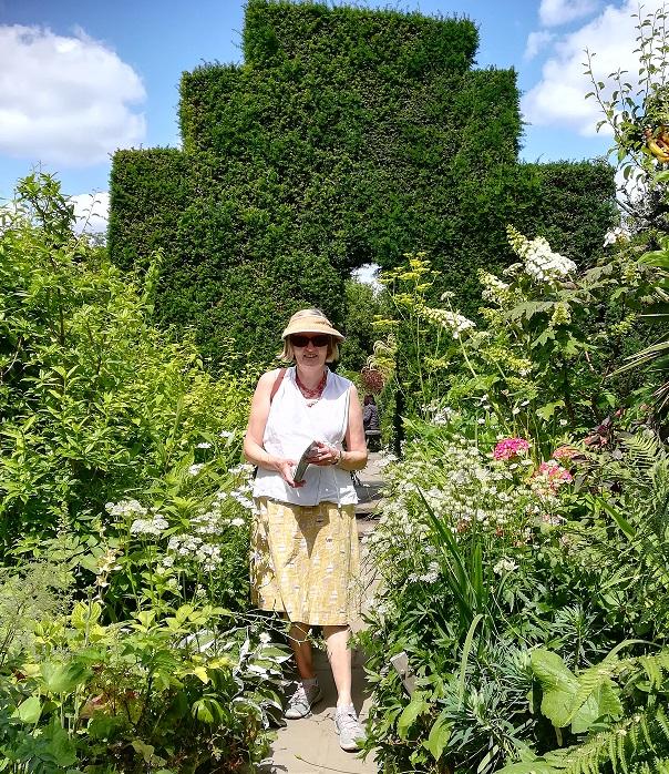 Photograph of Maggie Stevenson in a garden