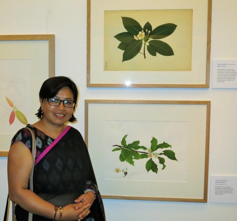 Colour photographic portrait of Neera Joshi Pradhan.