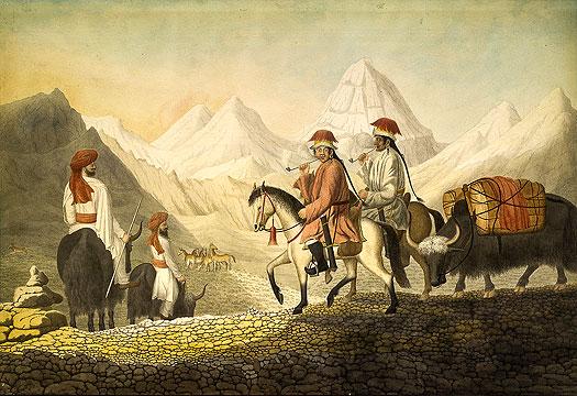 William Moorcroft on the road to Lake Mansarowar in Tibet. https://www.historyfiles.co.uk/KingListsFarEast/IndiaStates.htm