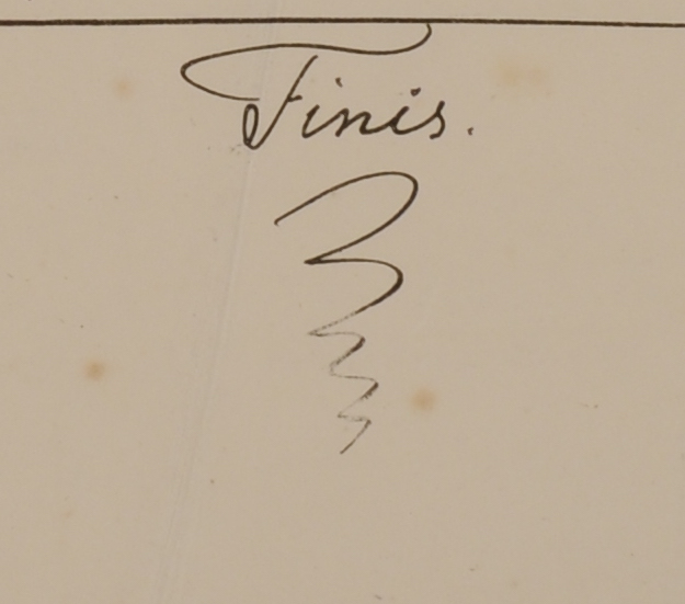 Finis - Wallich's flourish at the end of his Catalogue
