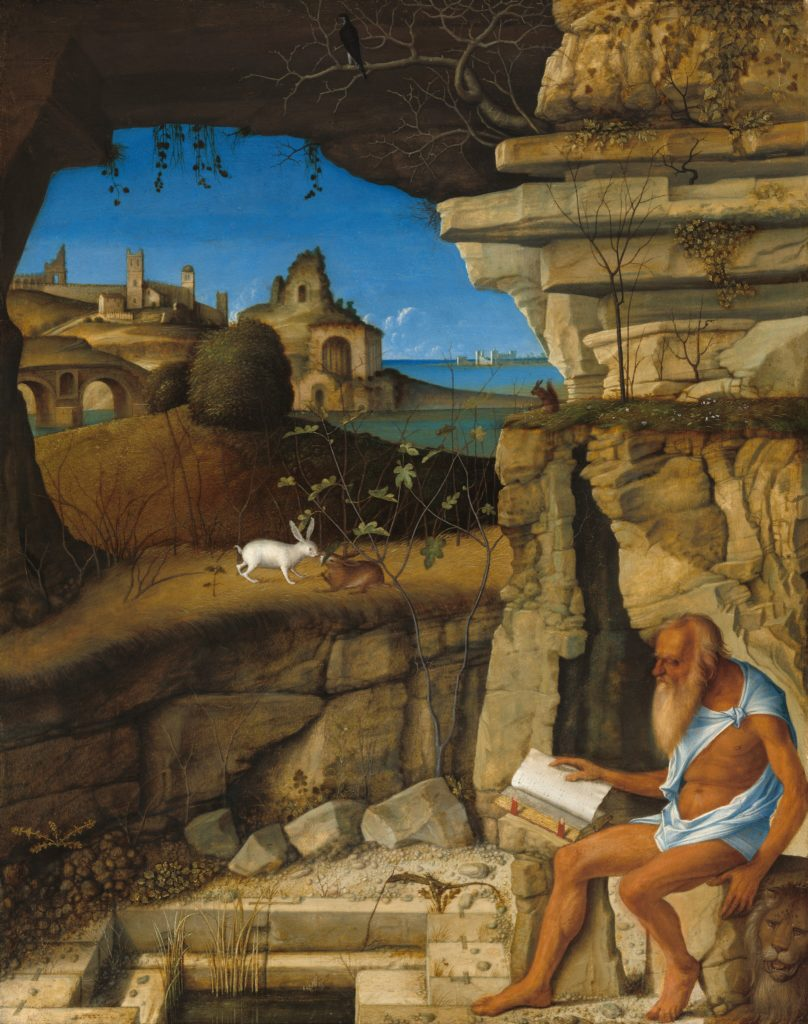 Painting of Saint Jerome reading