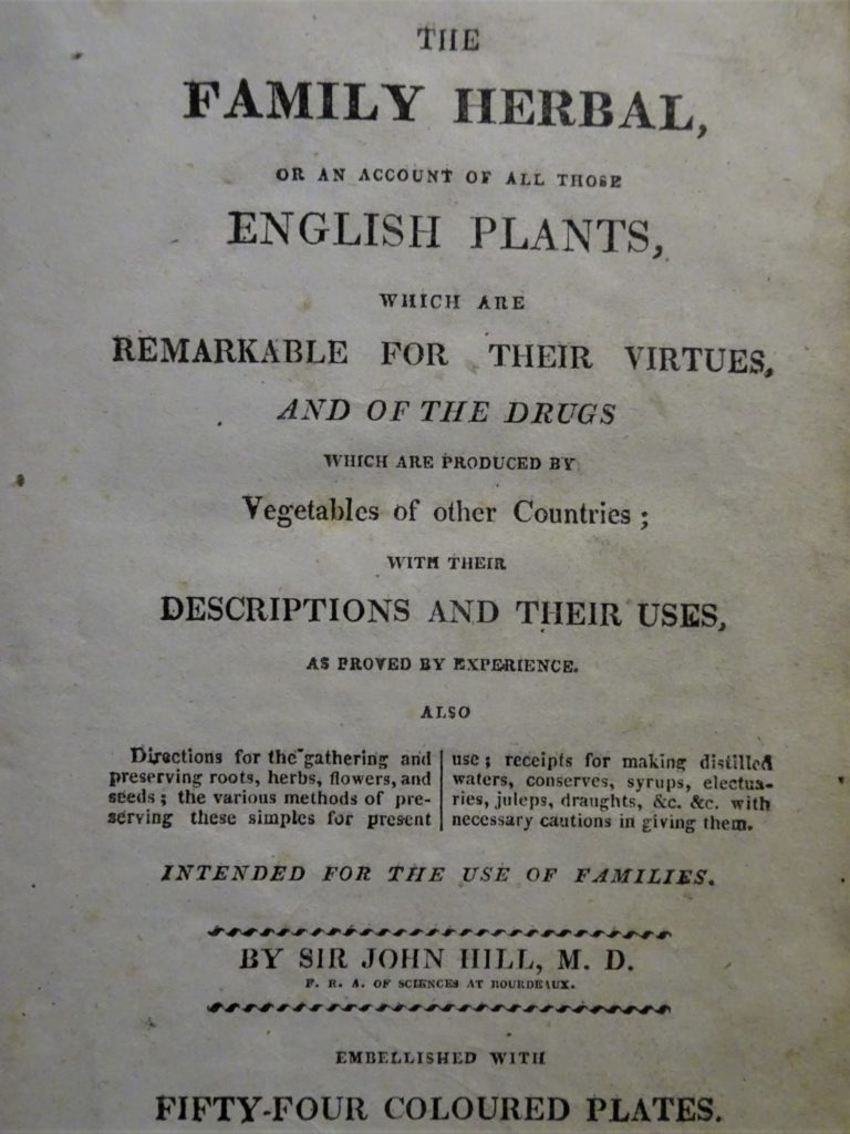 To show the title page of the copy of John Hill's Family Herbal which once belonged to John Duncan