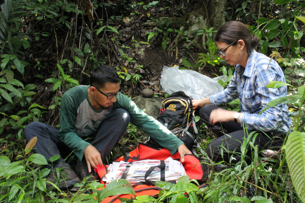 Authors Abdulrokhman Kartonegoro and Hannah Atkins on fieldwork in Sulawesi.